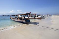 Lombok około Wrzesień 2015: Gil Trawangan, Lombok jest głównym atrakcją turystyczną Obrazy Stock
