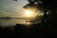 Lombok sunrise. Peaceful sunrise in lombok island, indonesia. amazing beautiful nature view Stock Photography