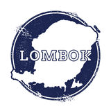 Lombok vectorkaart Royalty-vrije Stock Foto