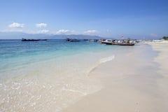 Lombok vers en septembre 2015 : Gili Trawangan, Lombok est attraction touristique principale Images libres de droits