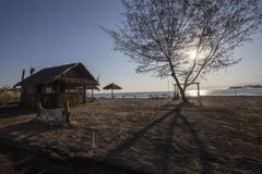 Lombok vers en septembre 2015 : Gili Trawangan, Lombok est attraction touristique principale Photos stock