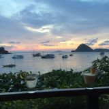 Lombok. Watching the sunset in Lombok Stock Photos