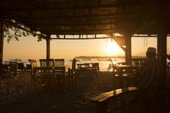 Lombokcirca September 2015: Gili Trawangan, Lombok is hoofdtoeristische attractie Royalty-vrije Stock Afbeeldingen