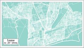 Lome Togo City Map en estilo retro Ejemplo blanco y negro del vector Libre Illustration