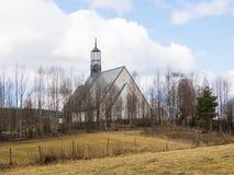 Lommedalenkerk in Noorwegen Royalty-vrije Stock Foto's