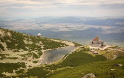 Lomnica del ¡ di TatranskÃ, alto Tatras immagini stock