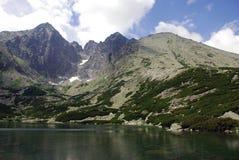 Lomnica, Slovakia. Lomnický štít (Lomnický peak) is one of the highest and most visited mountain peaks in the High Tatras mountains, in Slovakia royalty free stock photos
