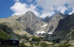 Lomnica, Slovakia. Lomnický štít (Lomnický peak) is one of the highest and most visited mountain peaks in the High Tatras mountains, in Slovakia stock image