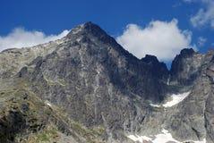 Lomnica, Slovakia. Lomnický štít (Lomnický peak) is one of the highest and most visited mountain peaks in the High Tatras mountains, in Slovakia stock photography