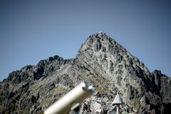 Lomnicke sedlo 2190 m. Tatry Mountains stock photography