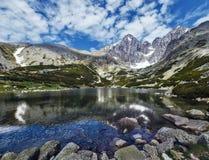 Lomnicky峰顶-高Tatras -斯洛伐克 免版税库存照片
