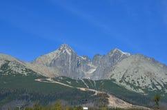 Lomnicky高峰高Tatras斯洛伐克 免版税库存图片