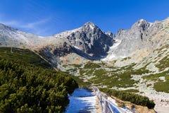 Lomnicky Peak, High Tatras, Slovakia. The most popular and most famous peak of the High Tatras, Slovakia is the Lomnický Peak (2634 m). The triangular top of Royalty Free Stock Photo