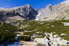 Lomnicky Peak, High Tatras, Slovakia Royalty Free Stock Image