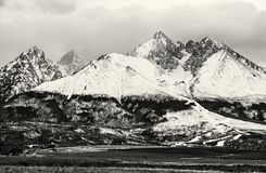 Lomnicky peak, High Tatras, Slovakia, colorless Royalty Free Stock Photos