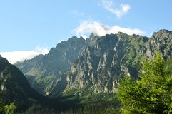 Lomnicky Peak with observatory on top High Tatras Stock Image