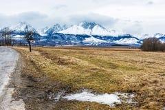 Lomnicky peak from Velka Lomnica, High Tatras, Slovakia Royalty Free Stock Image