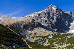 Lomnicky Spitze, hohes Tatras, Slowakei Stockbilder
