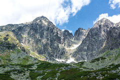 Lomnicky stit,高Tatras在斯洛伐克 库存照片