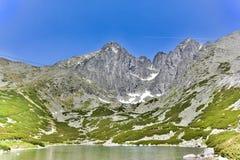 Lomnicky stit,高Tatras在斯洛伐克 库存图片