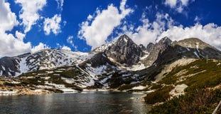 Lomnicky Stit em montanhas altas de Tatras de Eslováquia foto de stock