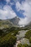 Lomnicky Stit em montanhas de Vysoke Tatry, Eslováquia imagens de stock royalty free