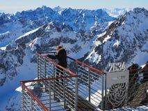 Lomnicky stit 2634m - Hoge Tatras /Vysoke Tatry/SLOVAKIA royalty-vrije stock afbeeldingen