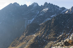 Lomnicky stit peak in High Tatra Mountains, Western Carpathians Stock Photos