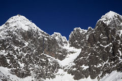 Lomnicky stit - peak in High Tatras mountains Royalty Free Stock Photos
