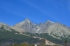Lomnicky Tatras alto máximo Eslováquia Imagem de Stock Royalty Free