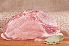 Lomo de cerdo crudo fresco Imágenes de archivo libres de regalías