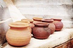 Lomo dei POT di argilla Fotografia Stock