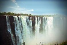 Lomo effect of Victoria Falls Mosi-oa-tunya, Zimbabwe Stock Images