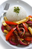 Lomo saltado, peruvian cuisine Royalty Free Stock Image