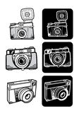 Lomo style photo camera set. Lomo style fancy photo camera set Stock Photo