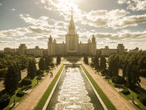 lomonosov莫斯科州立大学 图库摄影
