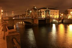 Lomonosov Bridge Stock Image