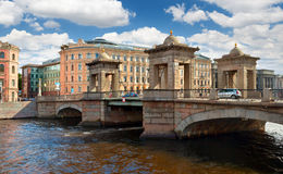 Lomonosov Bridge Stock Photography