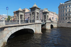 Lomonosov Bridge Stock Image