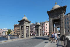 Lomonosov Bridge Royalty Free Stock Photo