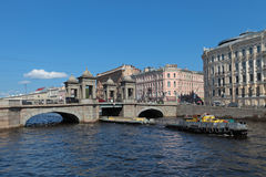 Lomonosov Bridge Royalty Free Stock Photos