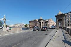 Lomonosov Bridge Royalty Free Stock Photo