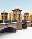 Lomonosov Bridge, St Petersburg,Russia Stock Photography