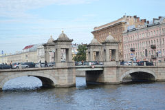 Lomonosov Bridge. Stock Photo