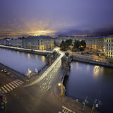 Lomonosov Bridge in St. Petersburg Royalty Free Stock Photo