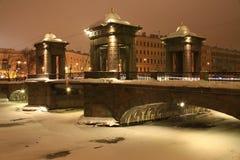 Lomonosov bro Royaltyfri Foto