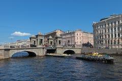 Lomonosov bro Royaltyfria Foton