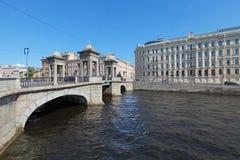 Lomonosov bro Royaltyfria Bilder