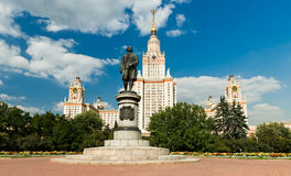 Lomonosov monument Royalty Free Stock Photography