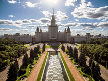 lomonosov Moscow stan uniwersytet Zdjęcia Royalty Free